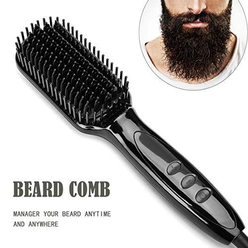 Fusutonus Nouvelle 2019 Version, Peigne à Cheveux électrique pour Les Hommes, Hommes Rapide Barbe Lisseur (100V-240V) - pour la Maison et Le Voyage