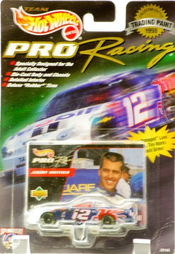 1998–Mattel–Equipo Hot Wheels–Pro Racing/comercio pintura–Jeremy Mayfield–# 12Mobil 1–Ford Taurus–.: 64Escala Fundido/Upper Deck tarjeta–nuevo–fuera de producción–Edición limitada–coleccionable