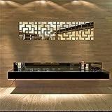 Q&F Abnehmbare Umweltschutz kreative home Dekoration Restaurant Wohnzimmer Schlafzimmer Spiegel Wandaufkleber , Gold