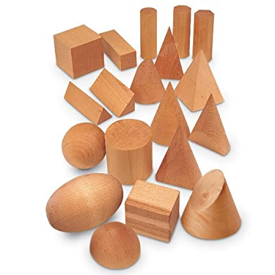 Learning Resources Wooden Geometric Solids (Set of 19) from Learning Resources