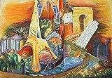 """Pintura Lienzo al Óleo Arte Abstracto Moderno """"EUROPA"""" por DOBOS, Cuadro Original para Decoración del..."""