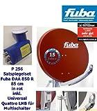 P256 Fuba Satspiegel DAA 850 rot, Universal Quad LNB