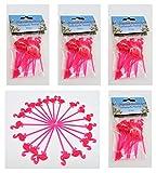 100 Cocktailspieße Flamingo pink Käsepicker Party Picker Käse Früchte Spieße