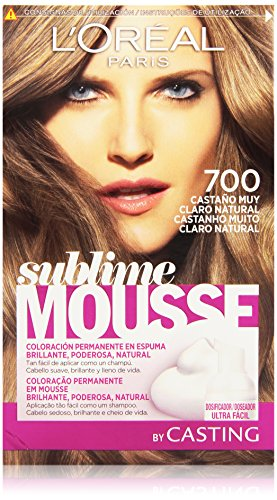 L'Oréal Paris Sublime Mousse Coloración Permanente, Tono 700 Castaño Muy Claro Natural