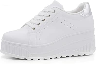 Scarpe Donna Ginnastica Sneakers Sportive Casual Platform Zeppa Alta Moda Scamosciata 063