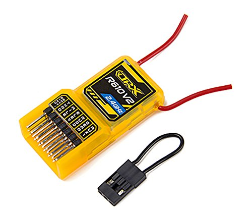 dsmx empfaenger Orange 6 Kanal Micro Nano Empfänger Rx R610V2 DSM2 kompatibel 6CH 2.4GHz Receiver mit CPPM Spektrum / JR von Modellbau Eibl
