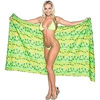 La Leela morbido likre palma spiaggia costume da bagno sarong hawaiano avvolgere 72x42 pollici