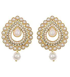 Royal Bling Gold Plated Jewellery Trendy Stylish Fancy Party Wear Jhumka/Jhumki Earrings for Women/Girls