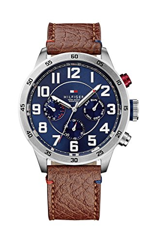 Tommy Hilfiger Watches - Orologio da polso, analogico al quarzo, pelle