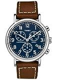 Timex Reloj Cronógrafo para Unisex Adultos de Cuarzo con Correa en Cuero TW2R42600