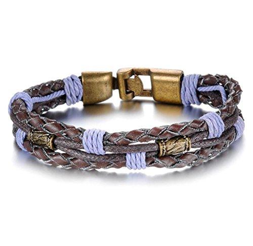 GYJUN personnalité cuir violet Tongkou bracelet des hommes , one size