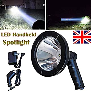 5 Inch T6 LED Rechargeable Hunting Light Handheld Spotlight Flashlight for Fishing Camping Search Light with Built-in Battery - Waterproof