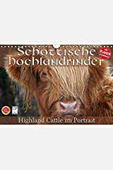 Schottische Hochlandrinder - Highland Cattle im Portrait (Wandkalender 2018 DIN A4 quer): Schottische Hochandrinder, die Rinderrasse die auf der ... ... [Kalender] [Apr 01, 2017] Cross, Martina Kalender