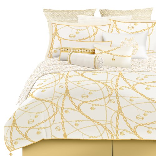 Set Twin Gold Tröster (Apple Hose Charmed Tröster Set, Polyester, Weiß / Gold, Twin)