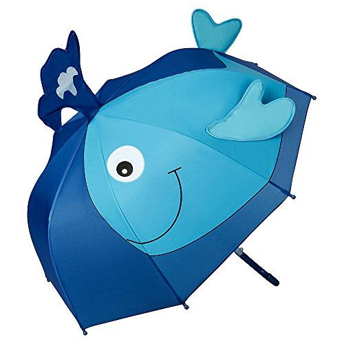 VON LILIENFELD Regenschirm Kind Kinderschirm Junge Mädchen Motiv Wal (bis ca. 8 Jahre) -
