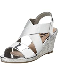 Xti Silver Mirror Pu Ladies Sandals ., chaussures compensées femme