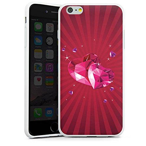 Apple iPhone X Silikon Hülle Case Schutzhülle Herz Liebe Pink Silikon Case weiß