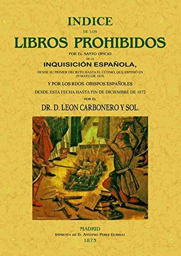 Índice de los libros prohibidos por la Inquisición