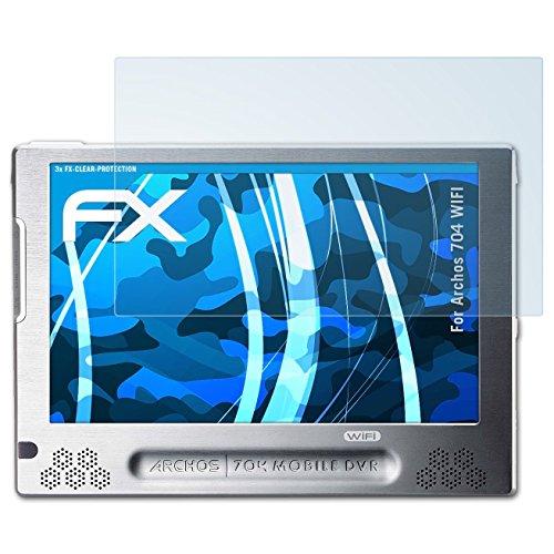 atFoliX Displayschutzfolie für Archos 704 WIFI Schutzfolie - 3 x FX-Clear kristallklare Folie (Archos 704 Wifi)