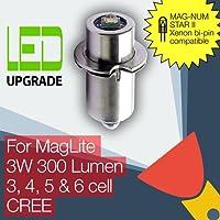 MagLite myinklink MAG-NUM STAR II bi-pin bombilla LED de conversión/actualización para linterna antorcha/linterna 3-6 D/C estarer