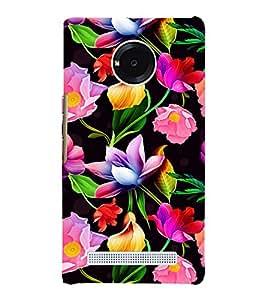 Floral Art 3D Hard Polycarbonate Designer Back Case Cover for YU Yunique
