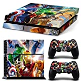 THTB Lot de 2 autocollants pour manette Playstation 4 Motif Lego Marvel Avengers et PS4