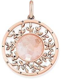 Thomas Sabo Mujer Colgante Pink Tree of Love Glam & Soul Plata de ley 925,  baño de oro rosa de 18 quilates PE758-536-9
