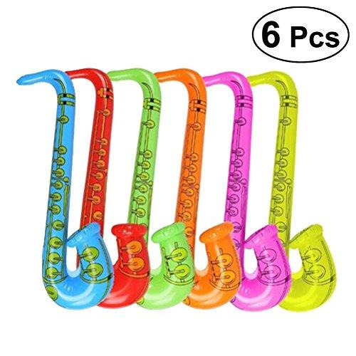 YeahiBaby Instrumentos Musicales Inflables del Saxofón para Niños 6 Piezas ( Olor al Azar)