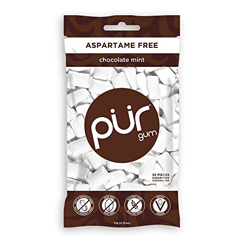 PUR Gum–Sugar Free Gum Kaugummi Chocolate Mint 55 Piece(s)