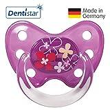 Dentistar® Latex-Schnuller - Nuckel-Motiv: Blumen