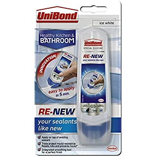UniBond RE-NEW silicone sealant, White