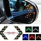 2PC HopeU5 Auto Rückspiegel-Blinker Versteck-Art LED-Pfeil-Umdrehungs-Signal-Licht 5Colors Auto LED-Seite Mirr LED-Lenkungsanzeige 14SMD LED-Lampe(Farbe per Zufall senden)