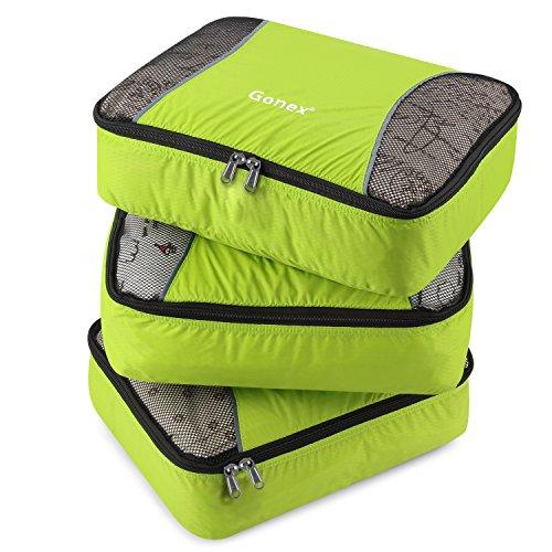 0c2342f1b Gonex – 3 packs Organizador para maletas/Viaje Bolsas de Embalaje ...