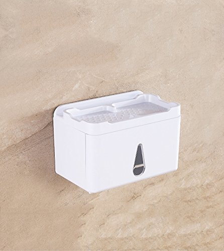 SMQ-Toilettenpapier-Box SMQ Hygiene-Fach Plastik- Tissue-Tuch-Zahnstange WC Multifunktion Wasserdicht Saugkasten Speicher absorbieren Wand Lagerregal Tissue-Kasten