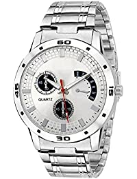 Swadesi Stuff Analog Silver Dial Metal Belt Stylish Watch - For Men & Boys 301