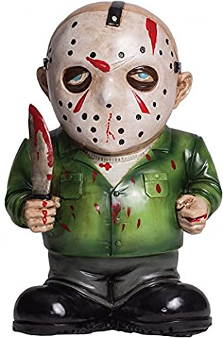 Lawn Gnomes Halloween Costume - Friday The 13th Jason Voorhees Lawn Gnome