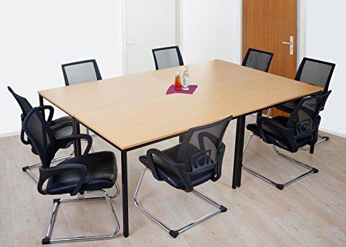Scrivania In Legno Chiaro : Mendler scrivania tavolo ufficio conferenza braila mdf cm