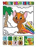 Malen nach Zahlen: Farbiges Tier Malbuch für Kinder, Alter 4-8, Perfekt zum lernen und malen mit 20 wunderschönen Hand gezeichneten Tier Illustrationen