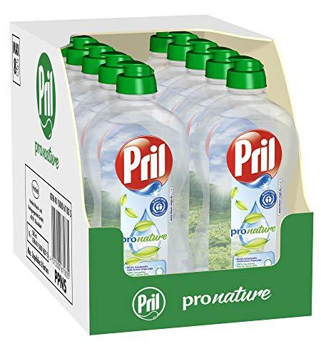 Pril Pro Nature - Nachhaltiges Spülmittel mit hoher Fettlösekraft, pH-hautneutral, frischer Duft (10x 500ml)