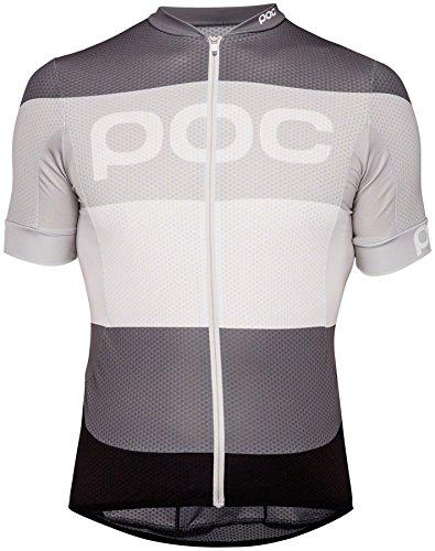 POC Essential Road Logo Maillot, Unisex Erwachsene XL Grau (Steel Multi Grey) -