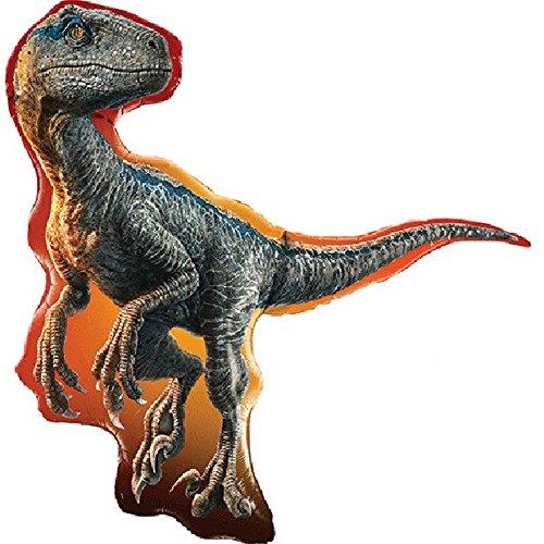 Qualatex jurassic world - palloncino supershape a forma di raptor (taglia unica) (multicolore)