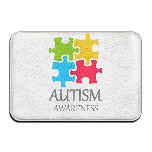 (JIEKEIO Autism Awareness Welcome Door Mat Rug Indoor/Outdoor/Front Door/Bath Mats 23.6(L) X15.7(W) inch,40cmx60cm)
