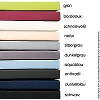 aqua-textil Topper Spannbettlaken 180x200-200x200 Boxspringbett Auflagen Jersey Mako Baumwoll Spannbetttuch Topper Bettlaken dunkel grau 1001088 Serie PUR
