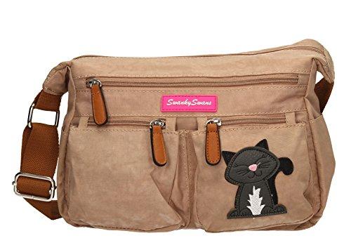 norma-womens-ladies-multi-pocket-shoulder-day-bag-satchel-bag-beige