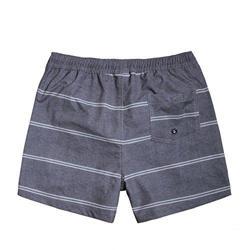HYHAN hommes occasionnels plage pantalons mode nouveau d'été simple, de taille lâche quatre shorts (avec doublure) gray
