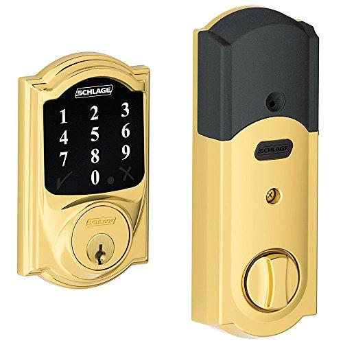 Schlage Lock Company conectar pantalla táctil cerradura de seguridad con Z-Wave tecnología, BE468CAM605