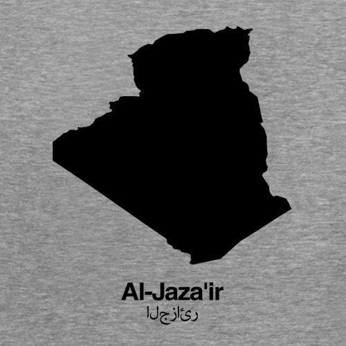Algeria / Algerien Silhouette - Damen T-Shirt - 14 Farben Sportlich Grau