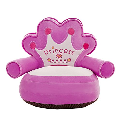 Süße Sitzsackhülle ohne Füllung, Riesensitzsack Sitzsack Bezug Hülle aus Plüsch - Princess- Lila