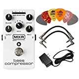 MXR M87 Bass Compressor Effects Pedal BUNDLE with ACDC Adapter Power Supply