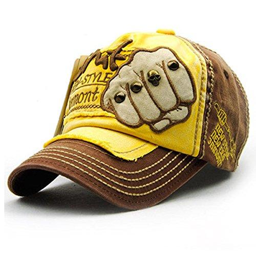 Berretto da baseball ricamo cotone - iParaAiluRy esterna di nuovo stile alla moda unisex regolabile Tempo libero Cappello ricamo per maschi e femmine